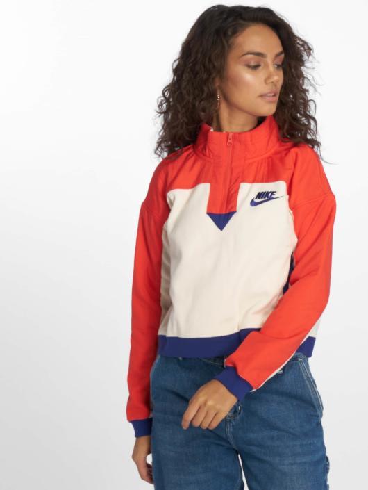 Nike Sportswear Sweatshirt Light CreamHabanero RedRegency Purple
