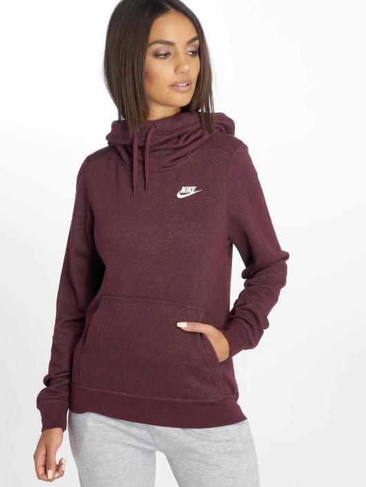 the best attitude 84fda 969cb Nike Sportswear Funnel/Neck Hoody Burgundy Crush/Htr/Burgundy Crush/White