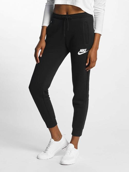 nike damen jogginghose rally in schwarz 336594. Black Bedroom Furniture Sets. Home Design Ideas