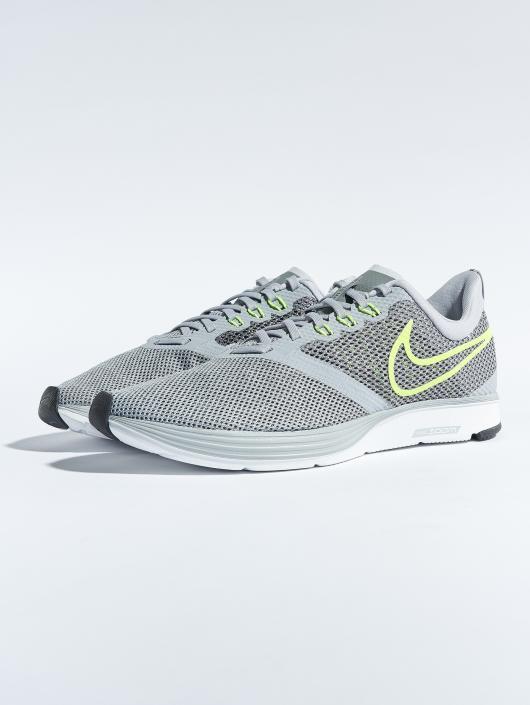 Nike Zoom Strike Running Sneakers Wolf GreyVoltCool GreyOil Grey