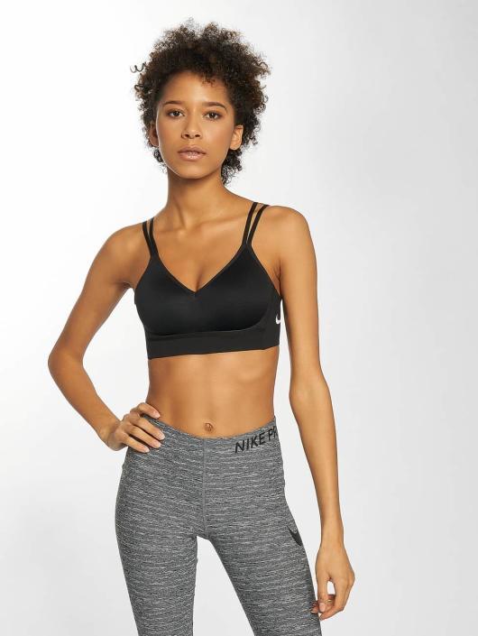 Nike Performance Biustonosz sportowy Indy Breathe czarny