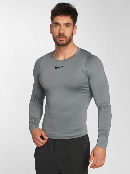 Nike Performance Camiseta de manga larga Pro Warm gris