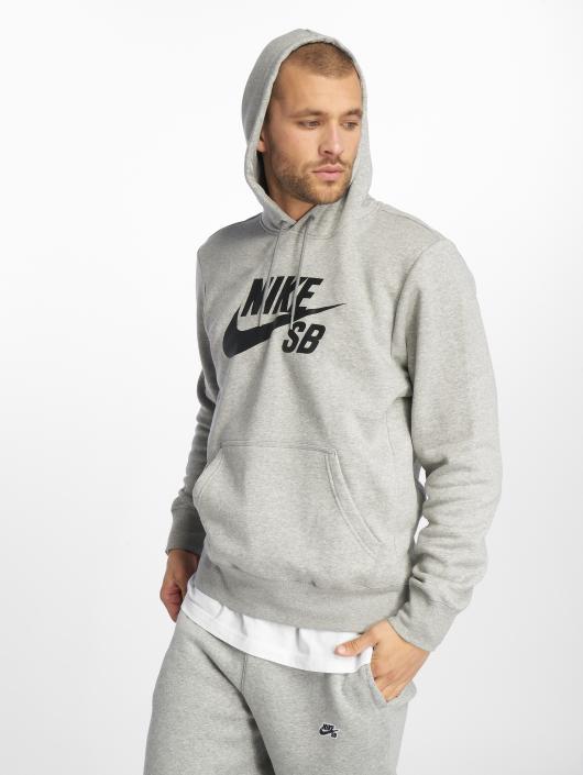 Nike SB Överdel   Hoodie Icon i grå 501122 0210357a1ca29