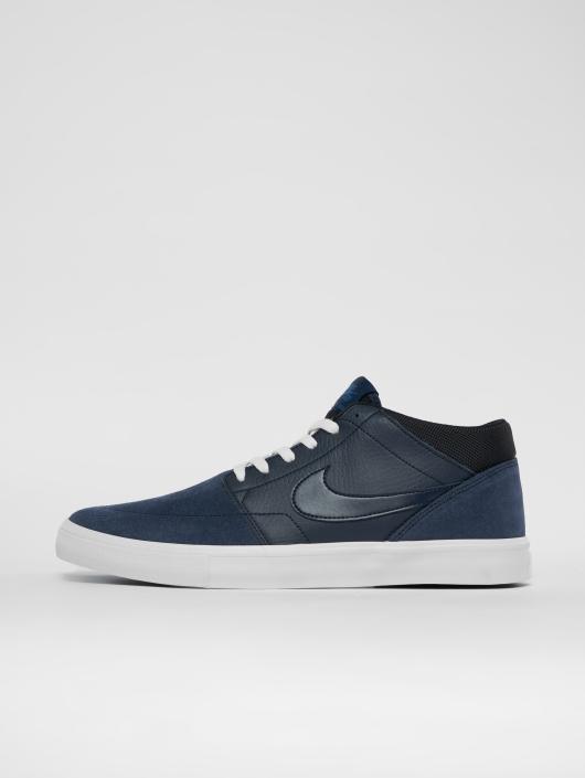 Nike SB Sneaker Solarsoft Portmore Ii Mid Skateboarding blau