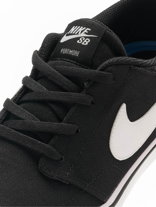 Nike SB Sneakers SB  Solarsoft Portmore II Canvas Skateboarding èierna
