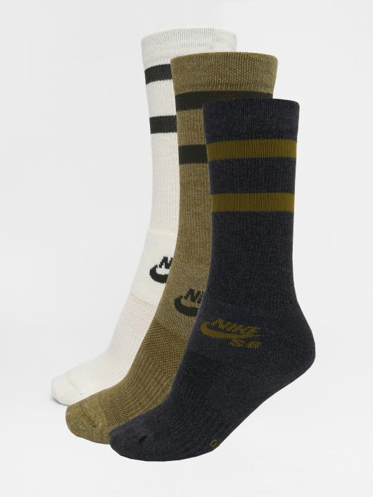 Nike SB Socks SB Crew Skateboarding 3-Pack brown