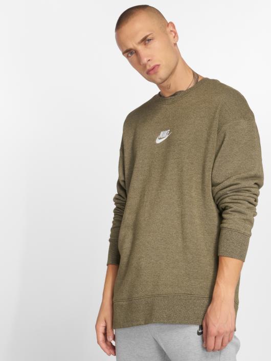 Nike Swetry Sportswear Heritage oliwkowy