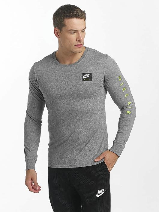 brand new bc685 b6345 ... Nike T-Shirt manches longues Sportswear gris ...
