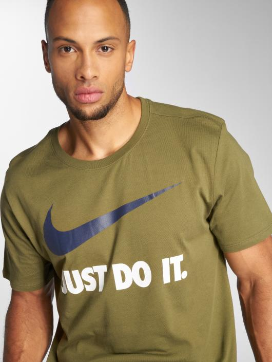 "Nike T-Shirt Sportswear ""just Do It."" Swoosh olive"