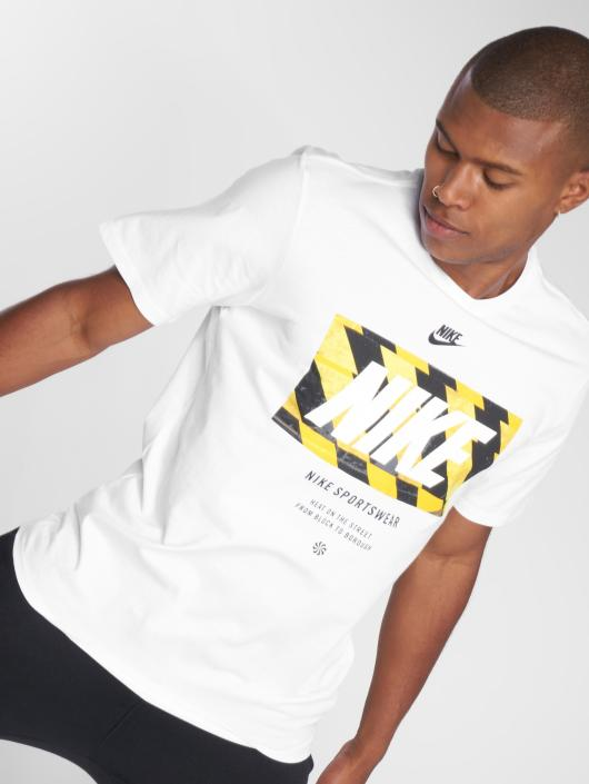 Nike T-Shirty Tape bialy