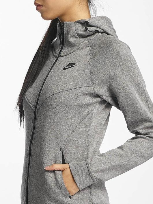 best sneakers authentic quality Nike Tech Fleece Jacket Carbon eather/Heather/Black