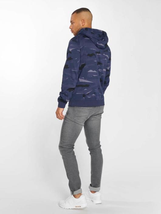 Nike Zip Hoodie Sportswear Club Camo Full синий