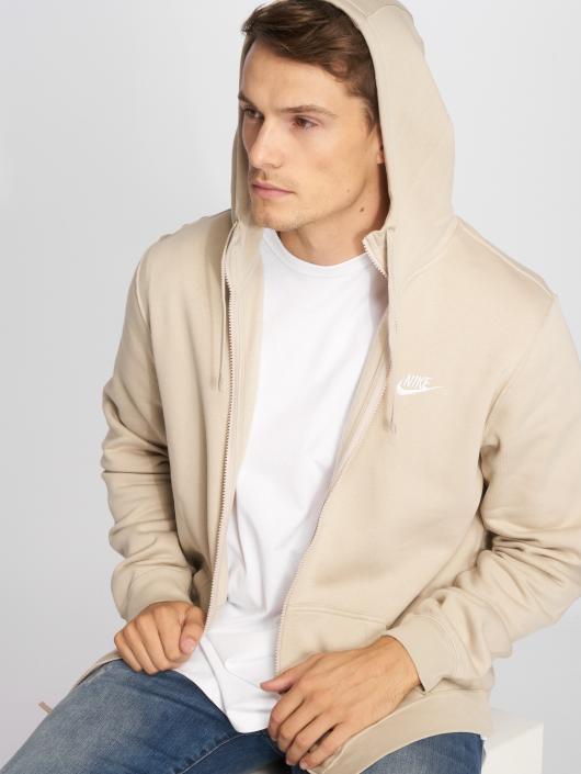 Nike Zip Hoodie Sportswear bezowy