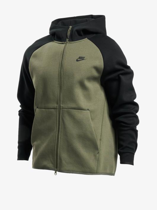 Nike Zip Hoodie Sportswear Tech Fleece olive