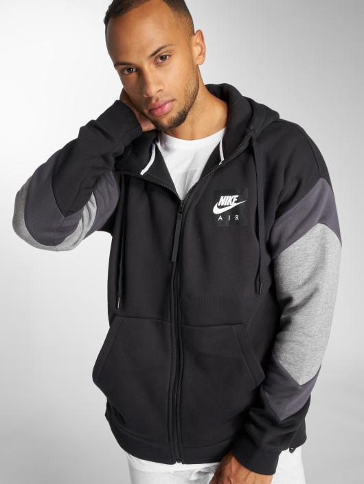 new product 8e3d9 aff0d ... Nike Zip Hoodie Air Transition schwarz ...