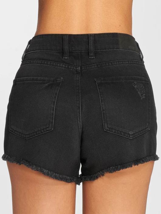 Noisy May Shorts nmBe Fran Raw Edge schwarz