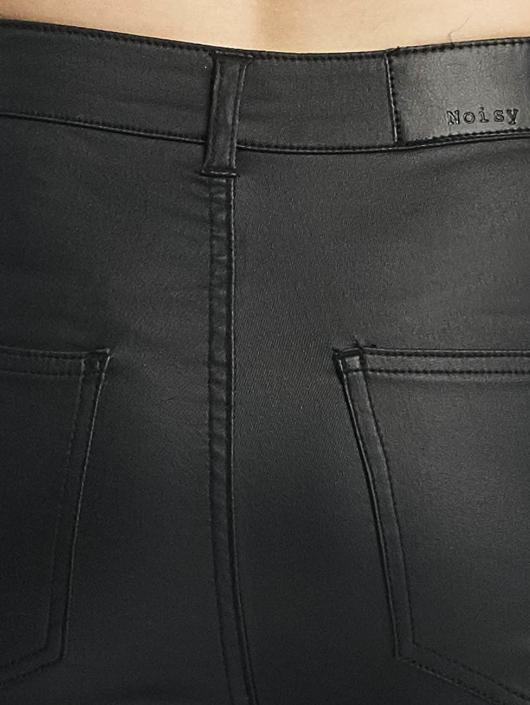 Noisy May Skinny Jeans nmElla Deluxe Coated black