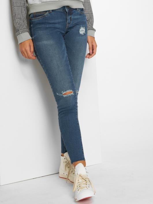 bcb164dc38ed Noisy May nmEve Low Waist Ankle Skinny Jeans Dark Blue Denim