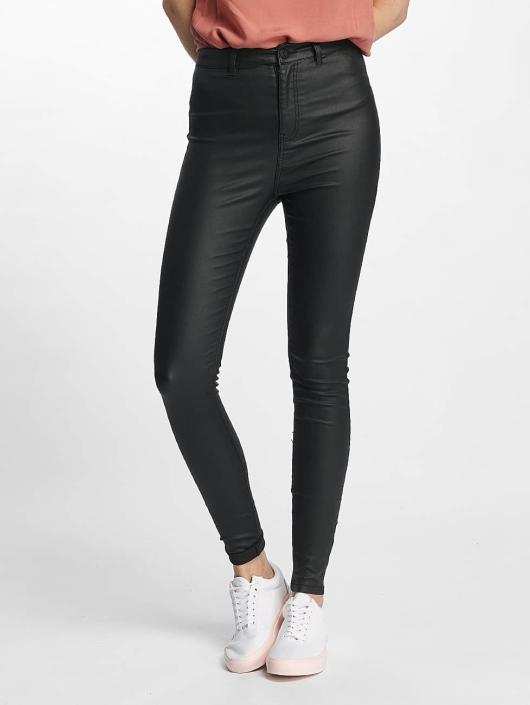 Noisy May Skinny Jeans nmElla Deluxe Coated czarny