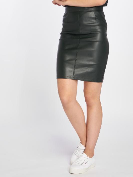 Noisy May Skirt nmPenny PU grey