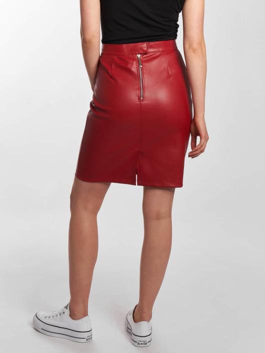 Noisy May Skirt Penny PU red
