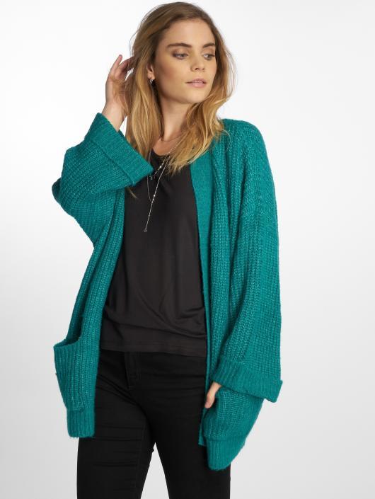 Noisy May Swetry rozpinane nmGerda Knit turkusowy