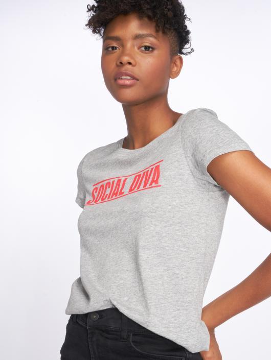 Noisy May T-Shirt nmNate Printed grau