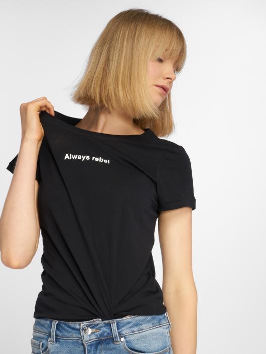 Noisy May T-skjorter nmNate Printed svart