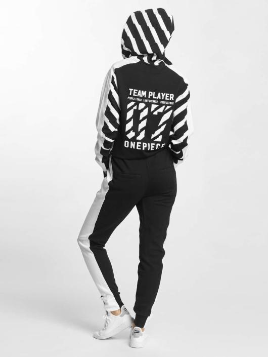 Onepiece jumpsuit Racer Printed zwart