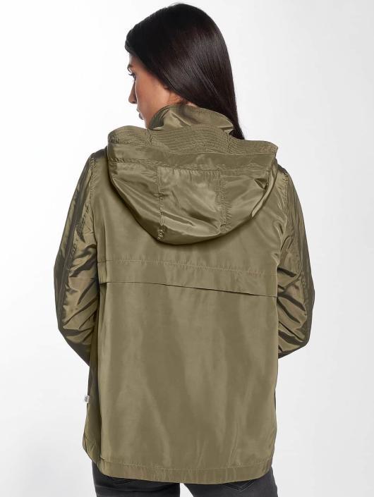 Only Демисезонная куртка onlLina Nylon Parka хаки