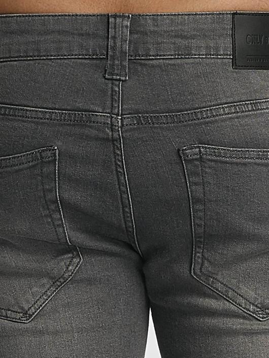 Only & Sons dżinsy przylegające onsLoom szary