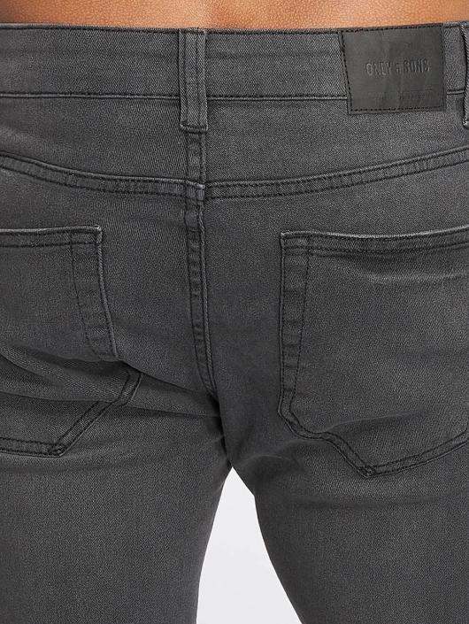Only & Sons Jean skinny onsWarp Raw Hem gris