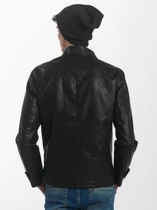 Only & Sons leren jas onsKarter Biker zwart