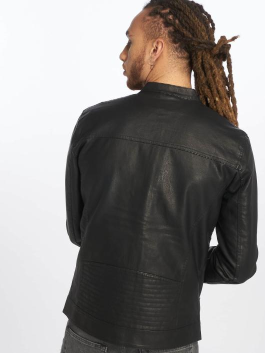Only & Sons leren jas onsKonrad zwart