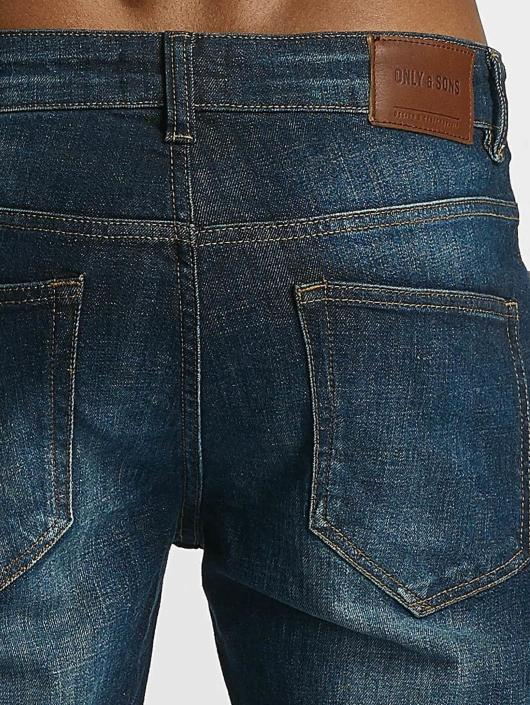Only & Sons Straight Fit Jeans onsWeft 8685 blå