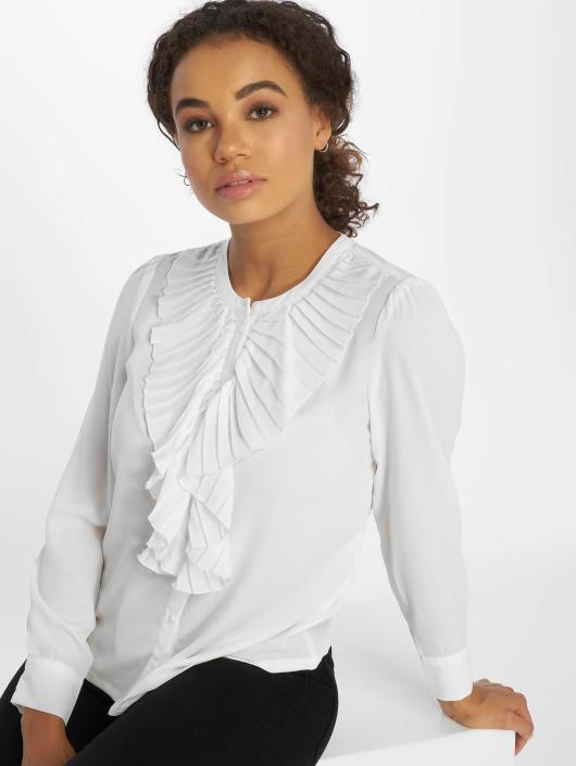 Only Blouse onlAlicante Pleat Flounce wit