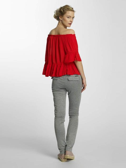 Only Bluse onlBingo Off Shoulder Peplum rot