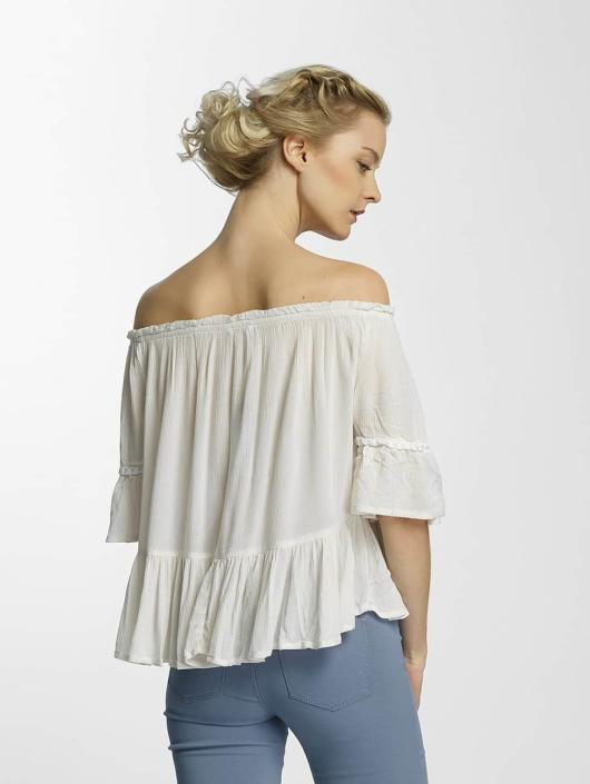 Only Bluzka/Tuniki onlBingo Off Shoulder Peplum bialy