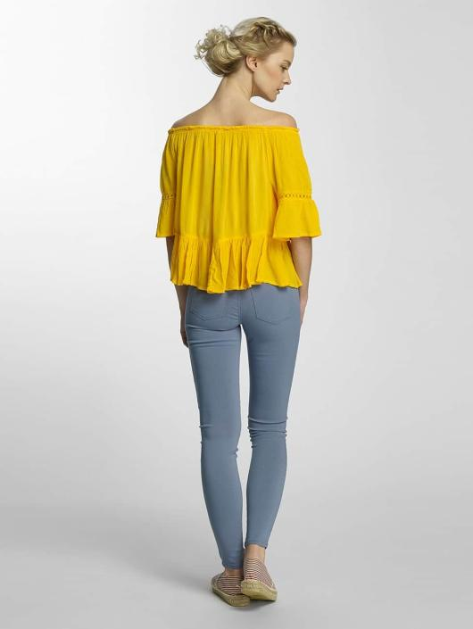 Only Bluzka/Tuniki onlBingo Off Shoulder Peplum zólty