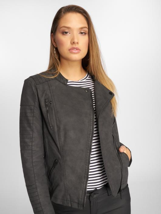 Only Giacca in pelle onlAva Faux Leather Biker nero