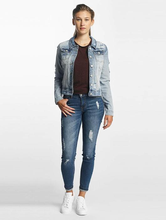 Only Jeansjacken onlChris Print Denim blau