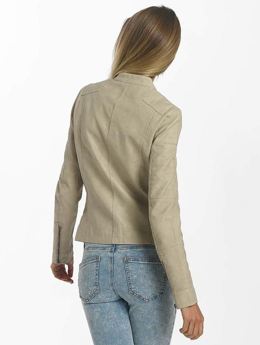 Only Leather Jacket onlAva Faux Leather Biker beige