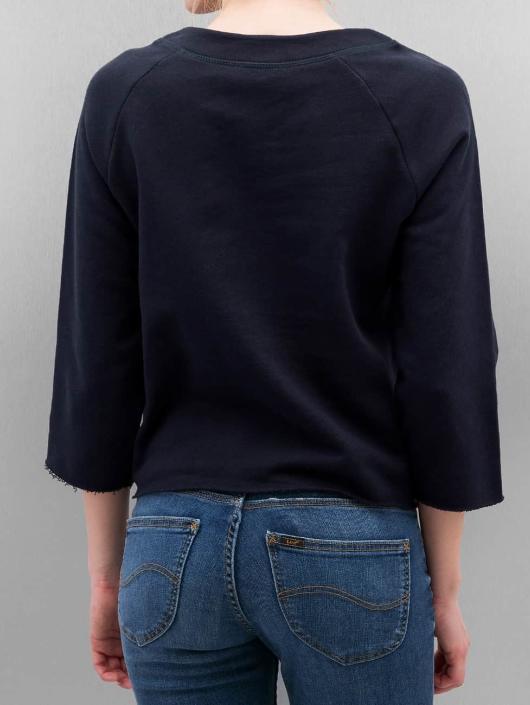 Only Pullover onlCropped 3/4 Boyfriend blau