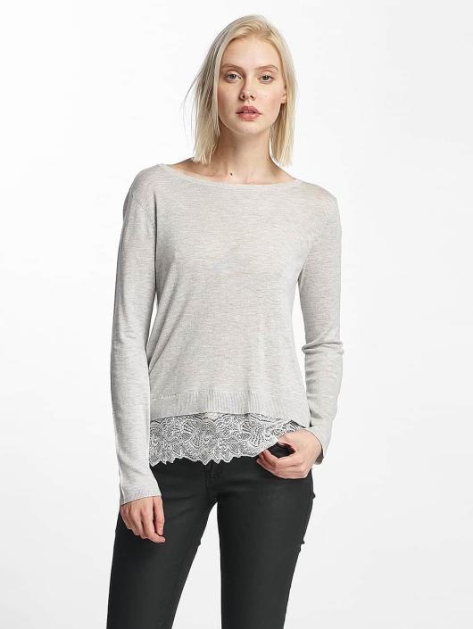 Only Pullover onlShirtley Lace grau