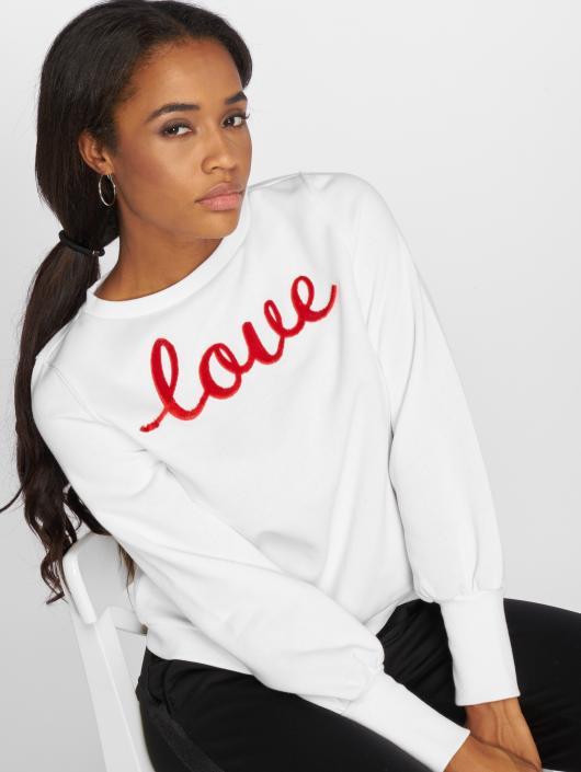 Only Pullover Onldonna L/s  O-Neck Print Box Swt white