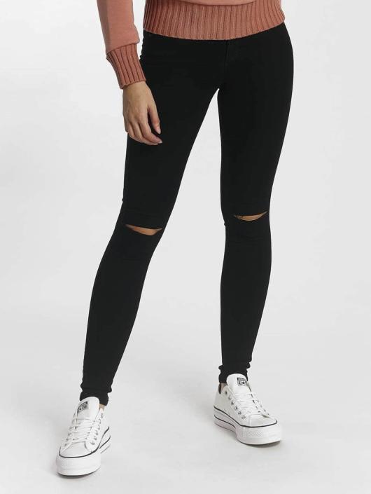 Only Skinny Jeans Royal Regular Kneecut schwarz