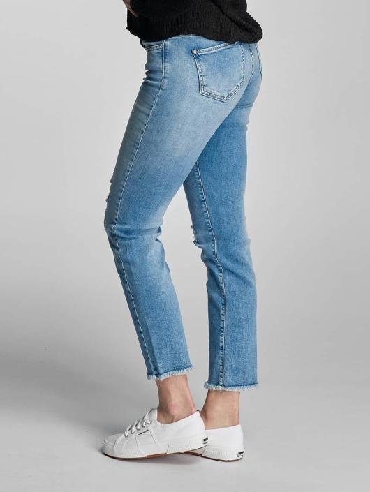 Only Slim Fit Jeans onlSui Regular Ankle modrá