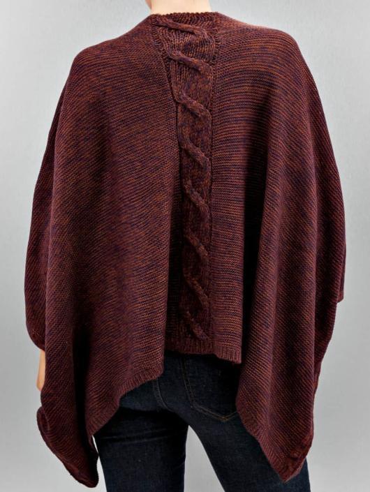 Only Swetry rozpinane onlAustin Poncho czerwony