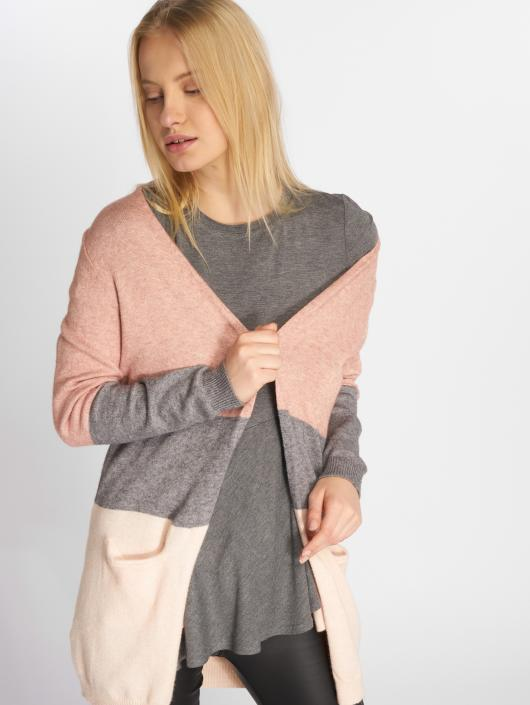 Only Swetry rozpinane onlQueen Long Knit rózowy