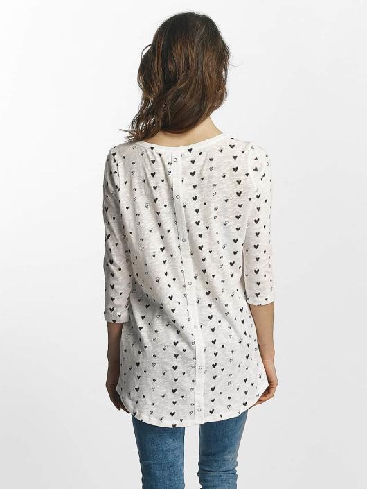 Only T-Shirt manches longues Casa 3/4 blanc